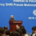 The President, Shri Pranab Mukherjee addressing at Peking University, in Beijing, China on May 26, 2016.