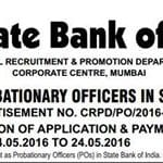 SBI invites applications for 2200 PO posts; 24th May last date