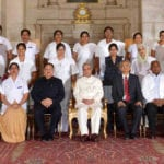 The President, Shri Pranab Mukherjee presented the Florence Nightingale Awards 2016 to meritorious nursing personnel, on the occasion of the International Nurses Day, at Rashtrapati Bhavan, in New Delhi on May 12, 2016. The Union Minister for Health & Family Welfare, Shri J.P. Nadda and the Secretary, Ministry of Health and Family Welfare, Shri B.P. Sharma are also seen.