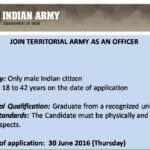 Territorial Army Jobs