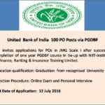 United Bank-PO Posts-27th June 2016