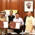 The Secretary, Ministry of Skill Development and Entrepreneurship (MSDE), Shri Rohit Nandan and the DG, CRPF, Shri K. Durga Prasad exchanging the MoU between the Ministry of Skill Development & Entrepreneurship and the CRPF in the presence of the Union Home Minister Shri Rajnath Singh, in New Delhi on August 30, 2016. The Minister of State for Skill Development & Entrepreneurship (Independent Charge) and Parliamentary Affairs, Shri Rajiv Pratap Rudy, the Minister of State for Home Affairs, Shri Hansraj Gangaram Ahir, Minister of State for Home Affairs, Shri Kiren Rijiju,  the Managing Director & CEO, National Skill Development Corporation, Shri Manish Kumar and other senior officers of MHA and MSDE are also seen.