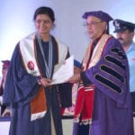 The President, Shri Pranab Mukherjee presenting the degree to a student at the First Convocation of the Nalanda University, at Rajgir, in Bihar on August 27, 2016.
