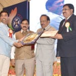 The Union Minister for Science & Technology and Earth Sciences, Dr. Harsh Vardhan gave away the Shanti Swarup Bhatnagar Awards 2012-15 and CSIR Awards, in New Delhi on September 26, 2016. The Minister of State for Science & Technology and Earth Sciences, Shri Y.S. Chowdary is also seen.