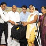 "The Union Minister for Social Justice and Empowerment, Shri Thaawar Chand Gehlot distributed the Tool kits to Divyangjans, at the inauguration of a ""Job Fair for Divyangjans"", organised by the National Handicapped Finance and Development Corporation (NHFDC), in Delhi on September 07, 2016."