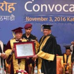 Kathmandu University confers D Litt degree to President Pranab Mukherjee