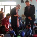 British Prime Minister visits Stonehill Government School in Bangalore