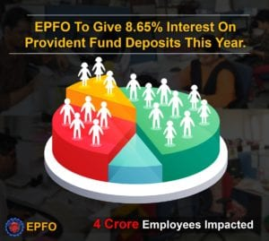 CBT recommends 8.65% interest on EPF to its subscribers for the year 2016-17