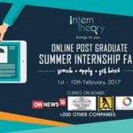 Intern Theory kickstarts a ten-day Post Graduate Online Summer Internship Fair today