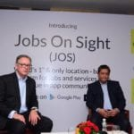 Jobs On Sight an app known for providing GPS-based hiring and job search services