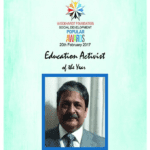 Wockhardt Foundation announces winner of Education Activist of the Year 2017