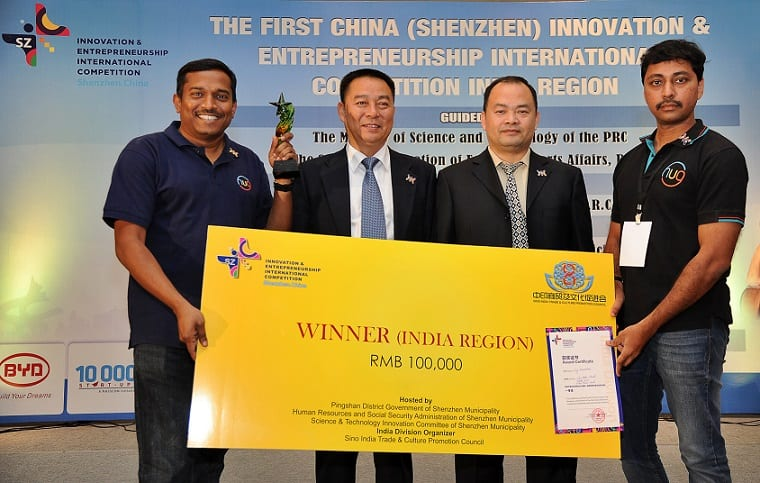 Winners of the India Region Round of the 1st China (Shenzhen) Innovation and Entrepreneurship International Competition announced