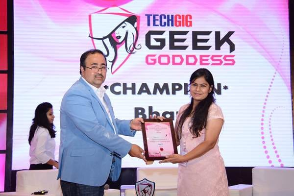 Bharti of Maharaja Surajmal Institute is crowned as TechGig's Geek Goddess 2017