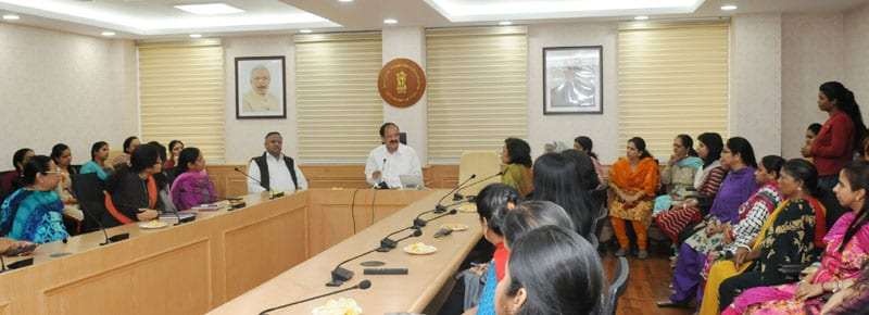 I&B Minister interacts with women employees of the Ministry on International Women's Day