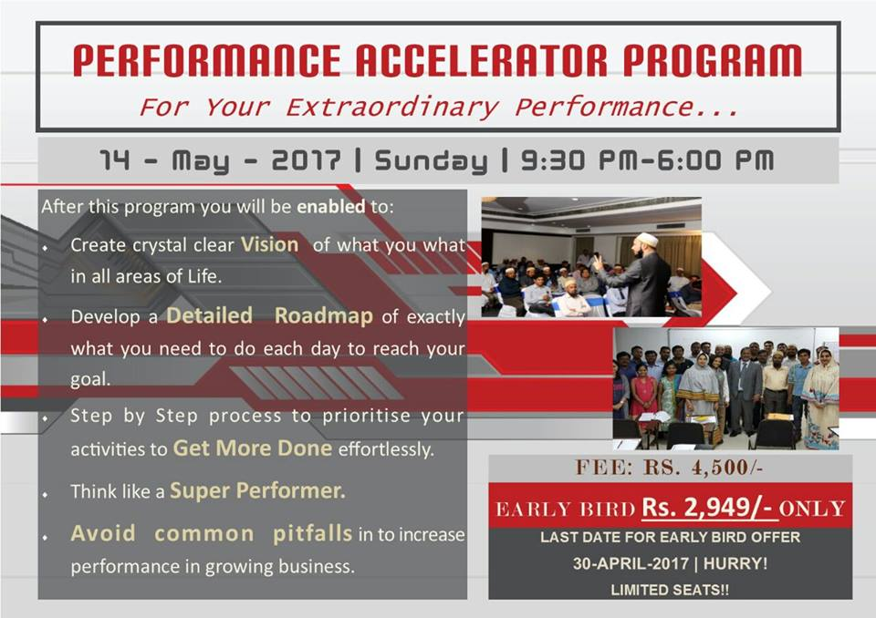 Skypath Consulting presents Performance Acceleration Program on 14 May 2017 for Entrepreneurs