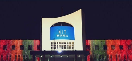 NIT Warangal PhD Programme July 2017 admission under Regular-Time  and Part-time mode