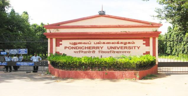Pondicherry University admission notification 2017-18 for MA, MBA, MTech PhD progarmmes