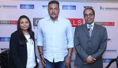 Cricketer Ravi Shastri to open a new innings in skill training with Greycells Education