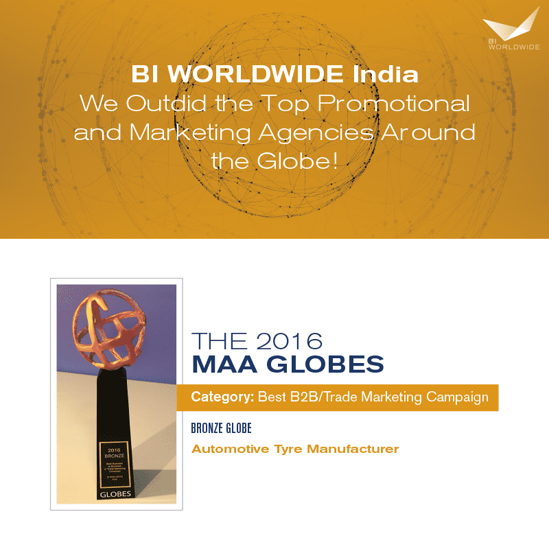 BI WORLDWIDE India wins Bronze award at the MAA Worldwide Globes