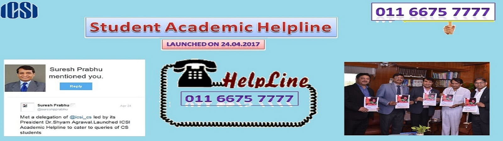 Institute of Company Secretaries of India (ICSI) launches academic helpline for CS students