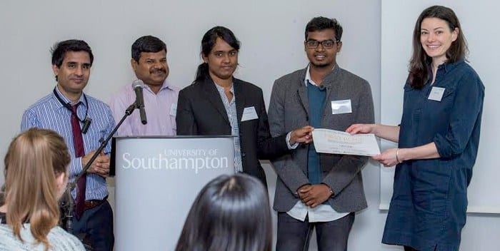 Chennai student team win third place at the UK-India Social Innovation Challenge 2017