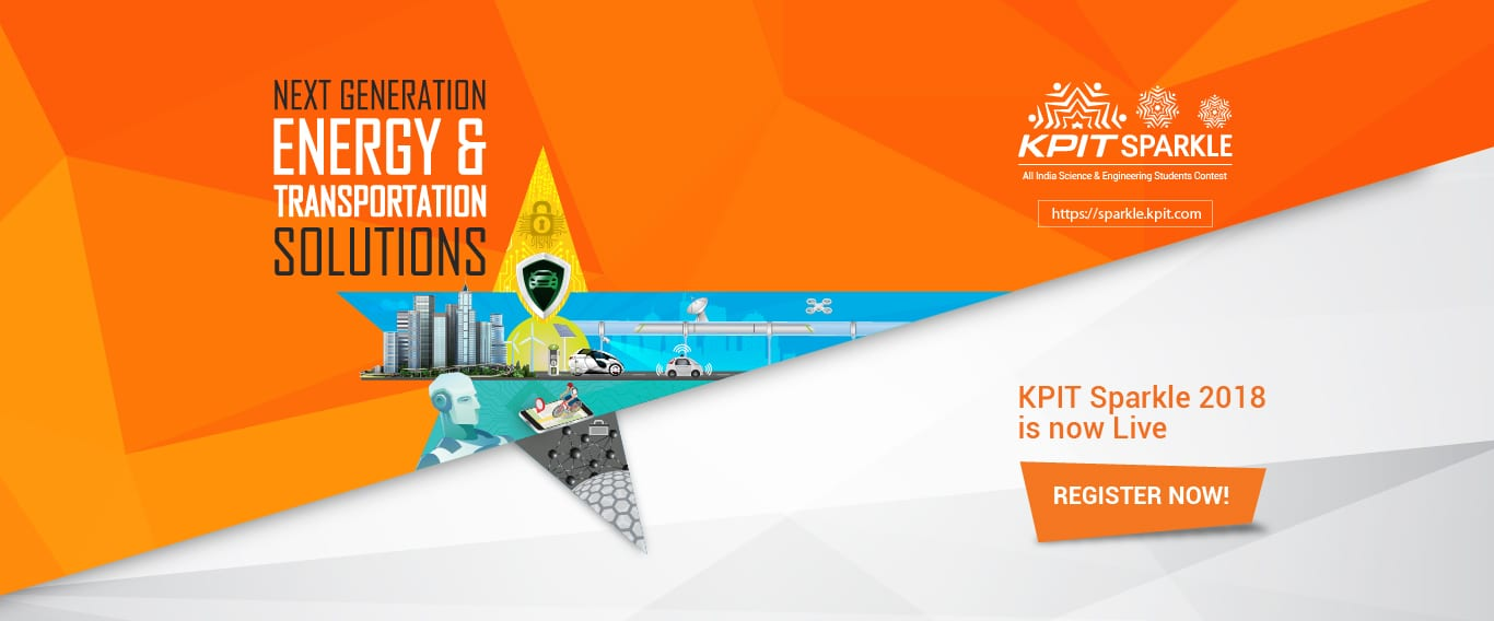 KPIT Sparkle 2018, National Innovation and Design Contest for engineering students, is open for registrations