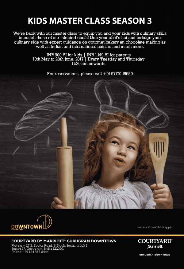 Courtyard by Marriott Gurugram Downtown announces the 3rd Edition of Kids Master Class