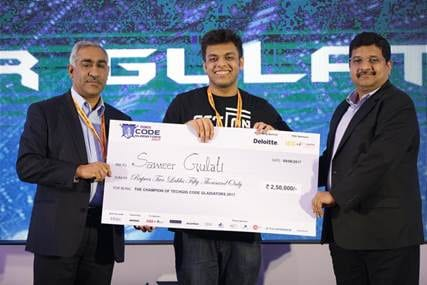 A student from Jaypee Institute of Information Technology bags TechGig Code Gladiators 2017