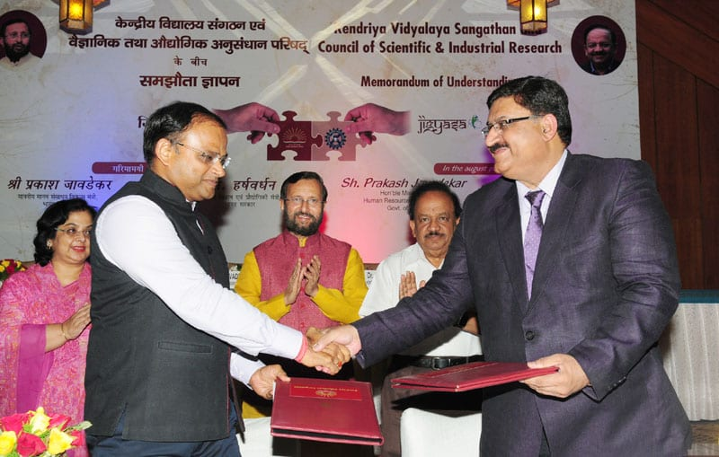 JIGYASA - Student-Scientist connect programme launched, MoU between CSIR & KVS