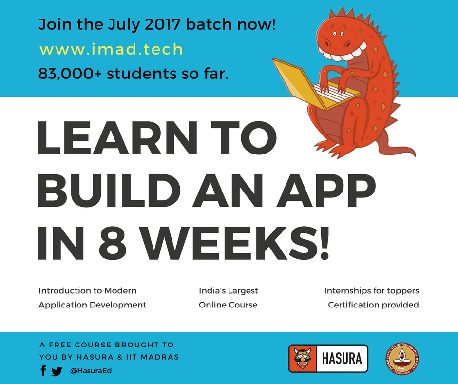 Learn to design 'Mobile Apps' from IIT Madras at zero cost! Registrations open