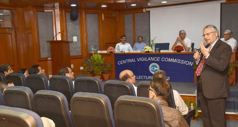 Shiv Khera delivers the 21st lecture of the Central Vigilance Commission's (CVC ) Lecture Series