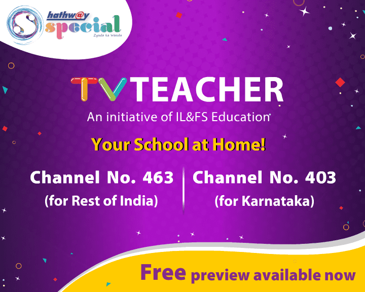 TVTeacher channel launched by IL&FS Education in partnership with Hathway Foray