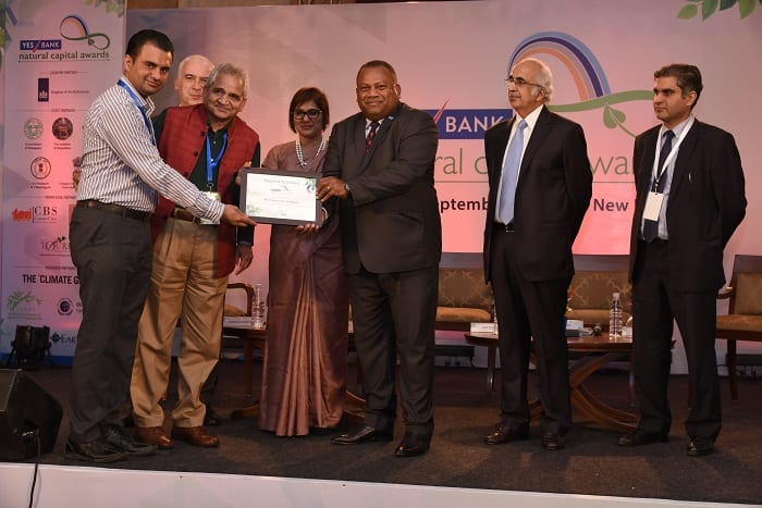 NIIT University (NU) Recognized as Eco–Corporate of the Year – Eco Campus at 3rd YES BANK Natural Capital Awards 2017