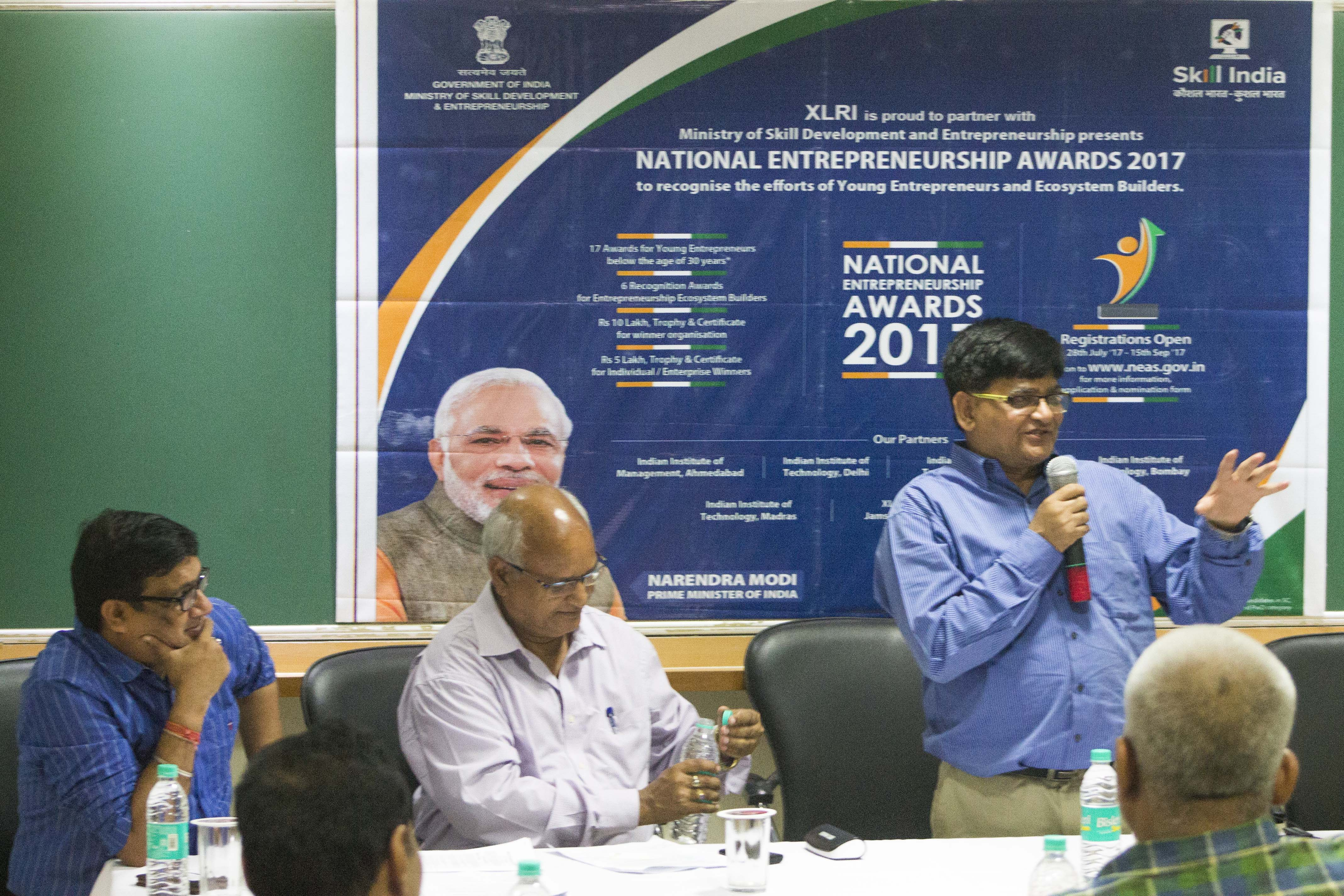 The Entrepreneurship Development Centre at XLRI with XIMB-XUB, organized a road show on the National Entrepreneurship Awards 2017.