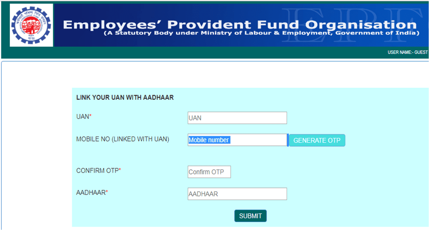 EPFO introduces a new facility for its members to link their respective UAN with Aadhaar online