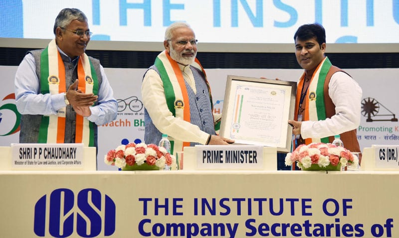 PM Modi addresses Company Secretaries at the inauguration of the golden jubilee year of ICSI