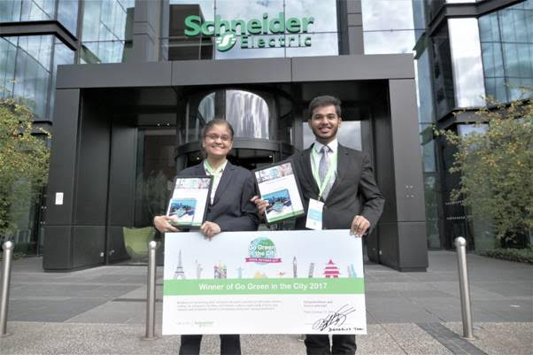 Indian Team from IIT Roorkee wins Schneider Electric's Global 'Go Green in the City 2017' Contest in Paris