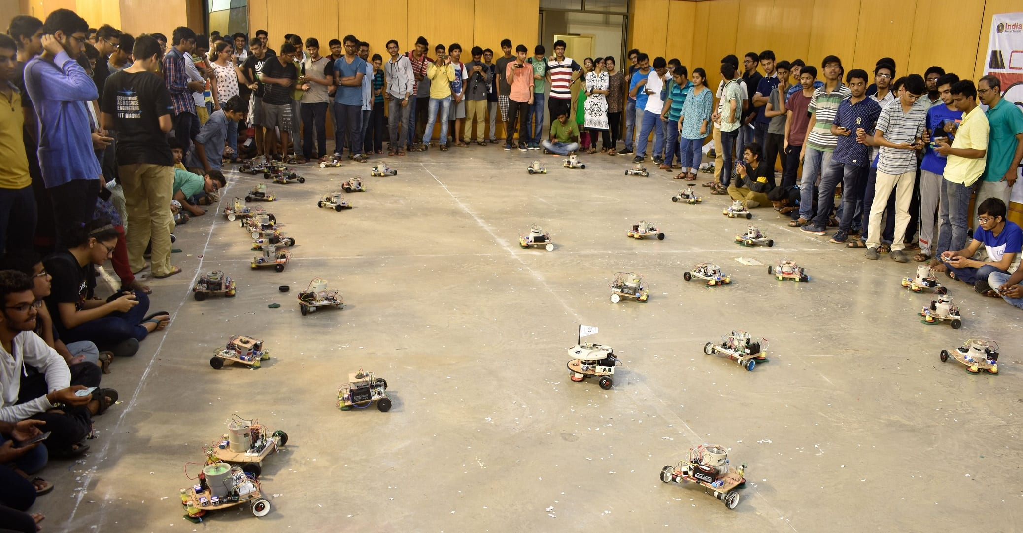 IIT Madras students set Asia, India records for operating largest number of robots to clean an area