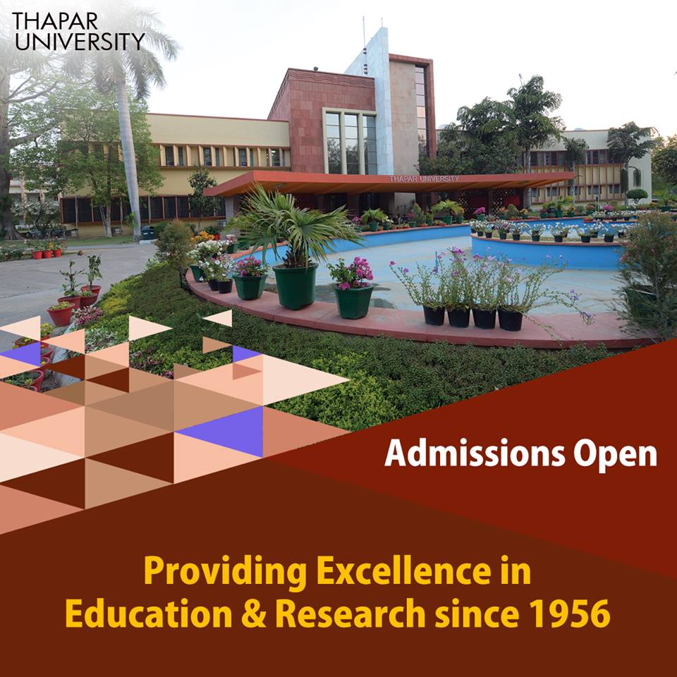 Thapar University PhD admission window open for 297 seats for Semester II 2017-18