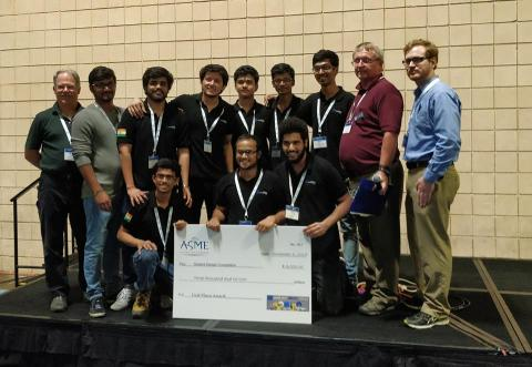IIT Bombay team wins American Society of Mechanical Engineers (ASME) Student Design Competition