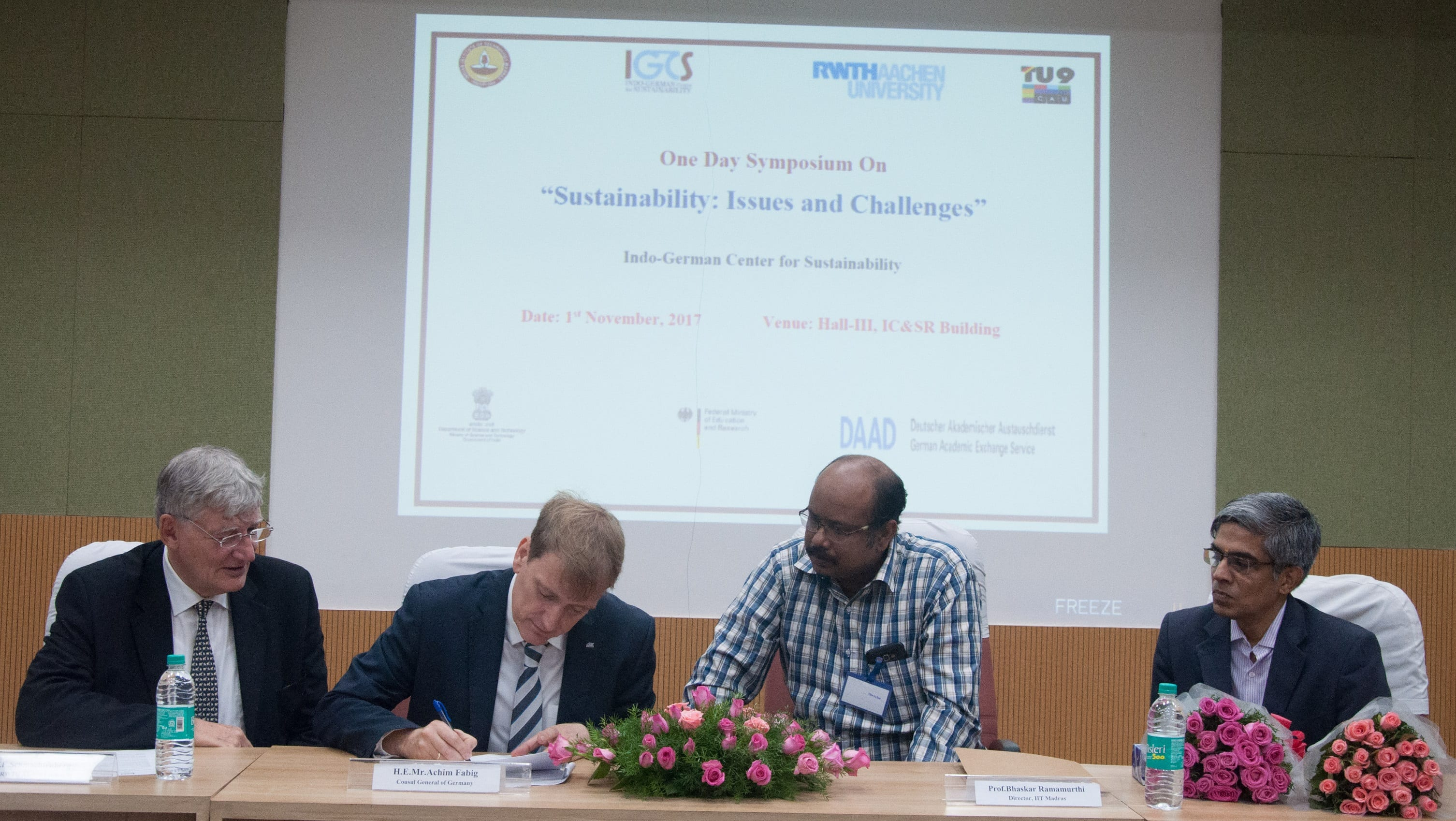 IIT Madras signs Research MoU with German Firm and University