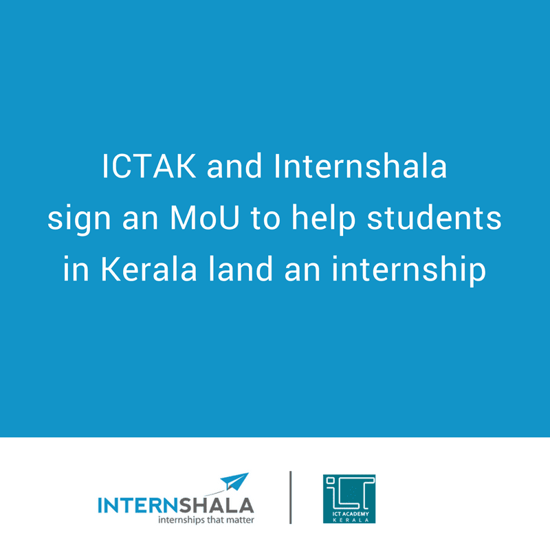 Internshala, ICT Academy of Kerala sign MoU: internships for 35,000+ students