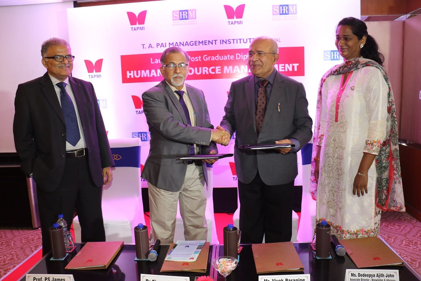 TAPMI In collaboration with Society for Human Resources (SHRM) launches Postgraduate program in Human Resources Management