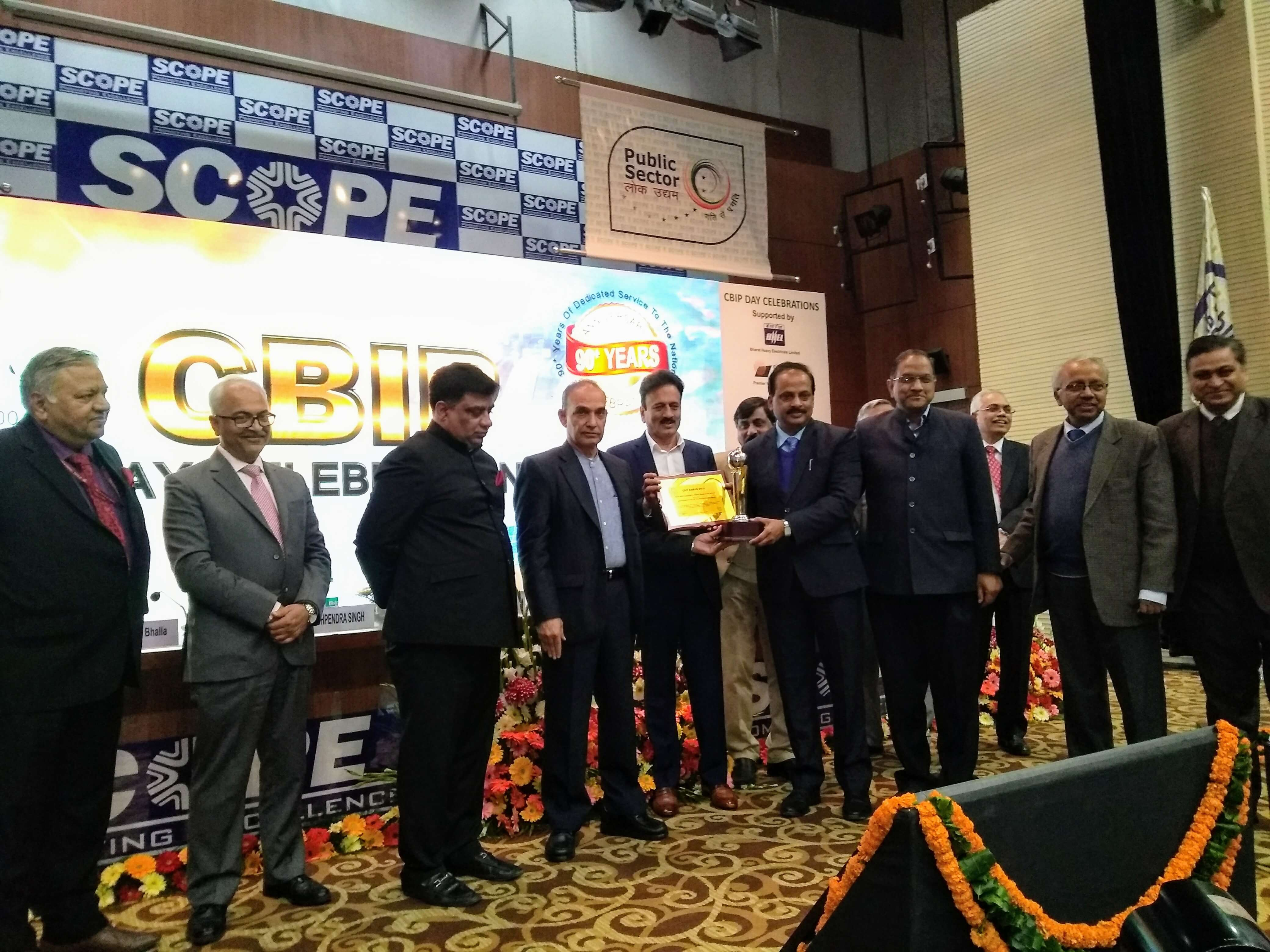 IIT Roorkee wins the CBIP Award-2018 for the'Best R&D Institute in Water Resources Sector'