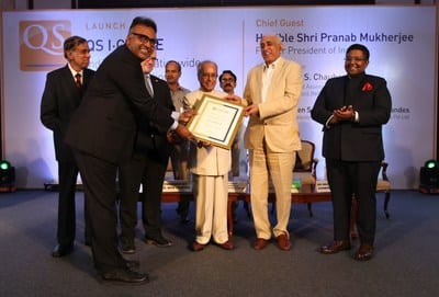 Shri Pranab Mukherjee Launches QS I-Gauge – India's First Nationwide Higher Education Rating System