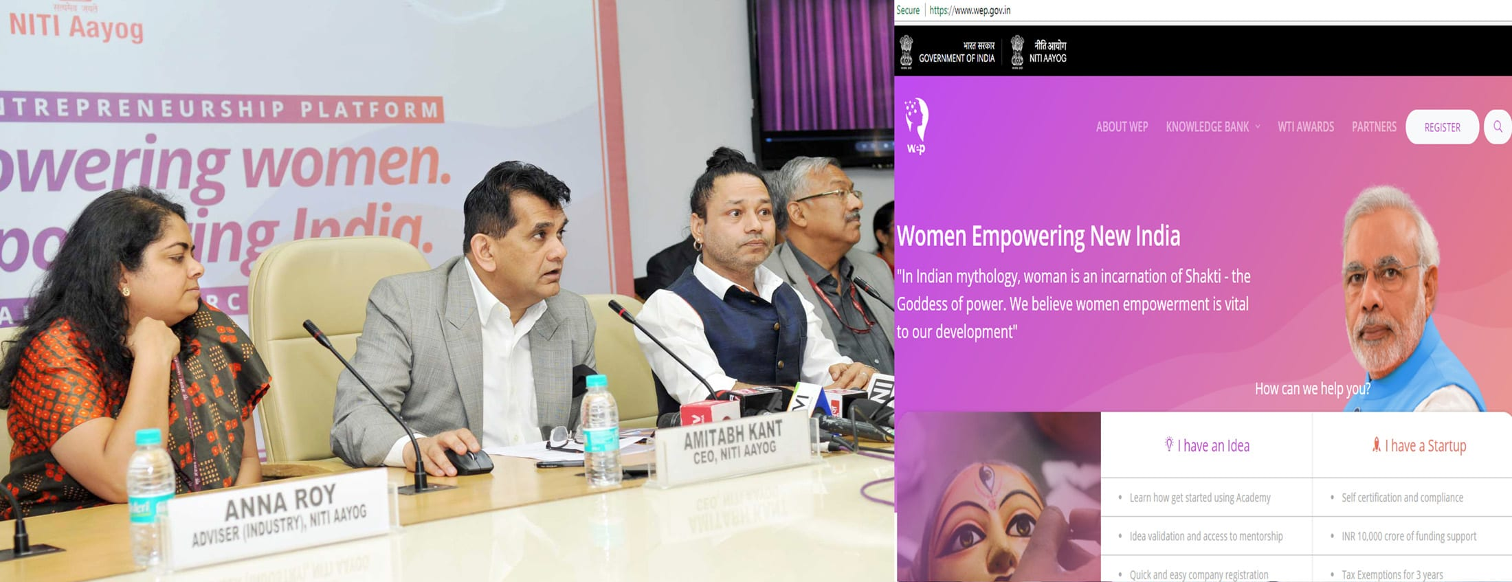 NITI Aayog launches Women Entrepreneurship Platform on International Women's Day
