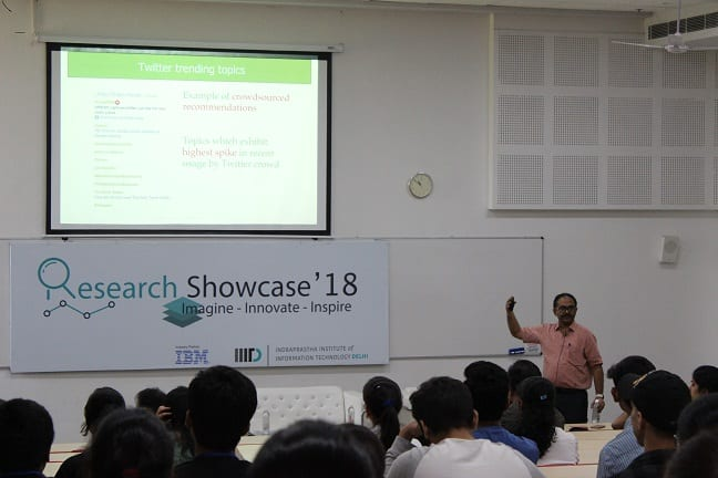 IIIT-Delhi's Research Showcase 2018 Exhibits the Brilliance of Ideas and Innovations