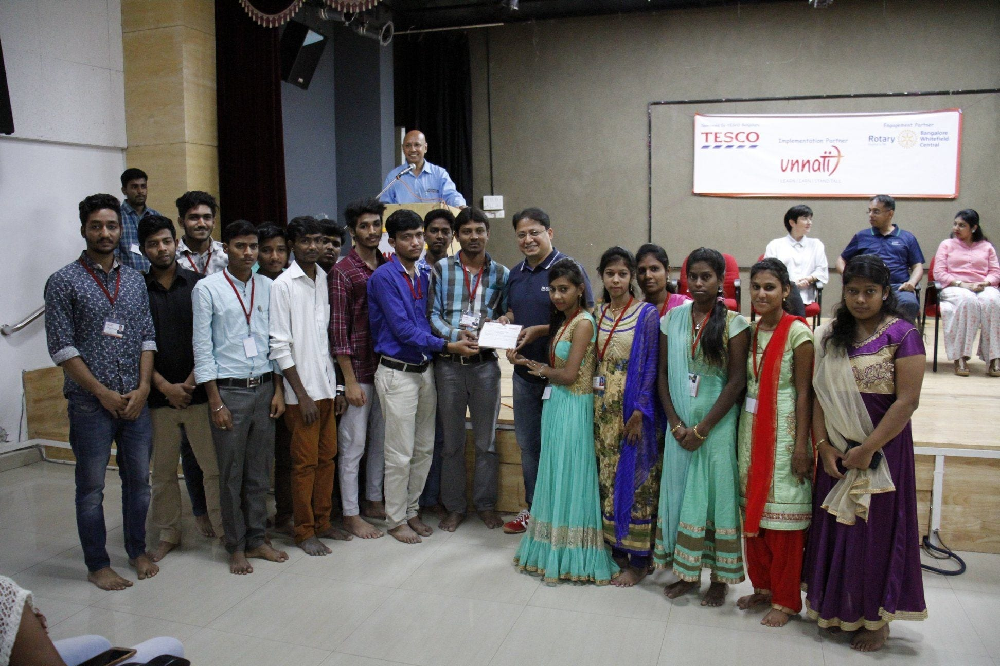 Tesco Bengaluru Helps Over 320 Underprivileged Youth Stand Tall Through Life Skills/Vocational Training and Job Placements