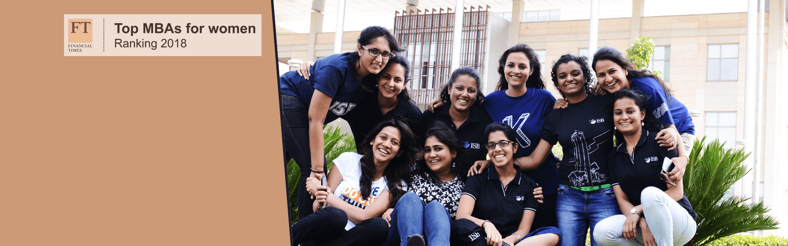 ISB ranks #26 in the Financial Times Top 50 MBAs for Women Ranking 2018