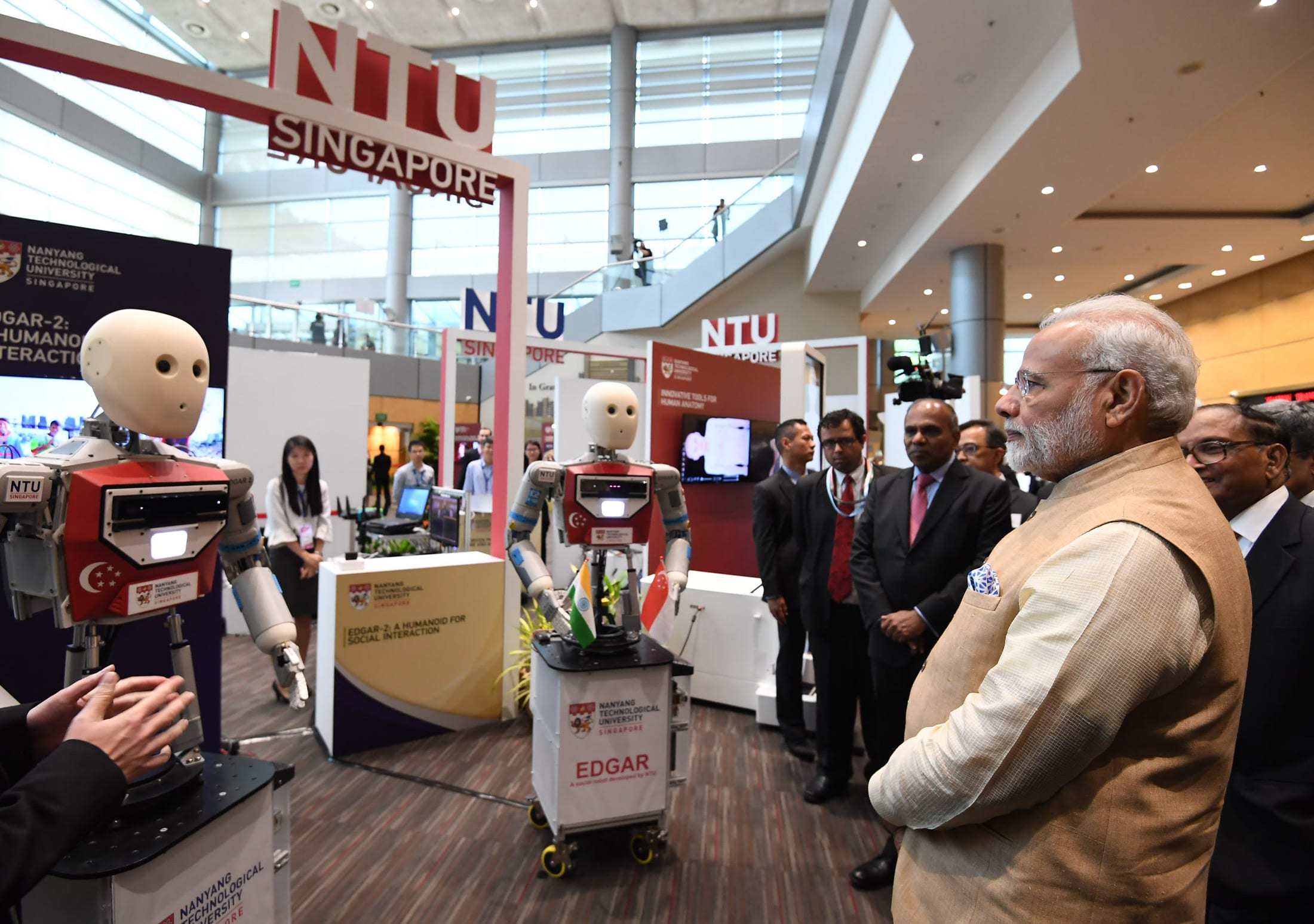 Prime Minister of India visits Singapore-based Nanyang Technological University
